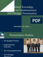 2015 Hatfield Budget Presentation