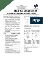 Parcial 1 0260 ESTADISTICA UCV PROF JOSE QUINTERO