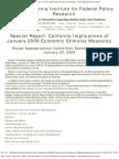 special report -- california implications of january 2009 economic stimulus measures2009stimulus