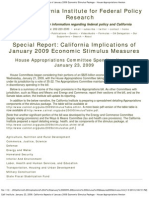 special report -- california implications of january 2009 economic stimulus measures2009stimulus