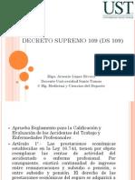 Decreto Supremo 109 (Ds 109) Clase 5