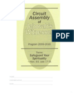 Circuit Assembly of Jehovah's Witnesses, Program 2009-2010, Safeguard Your Spirituality, Notebook