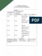 Internship Time Sheets
