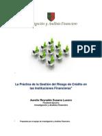 La Práctica de la Gestión del Riesgo de Crédito en las Instituciones Financieras
