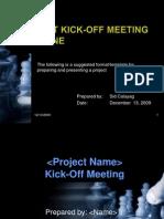 Kick-Off Meeting Presentation