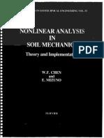 Nonlinear Analysis in Soil Mechanics