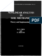 Nonlinear Analysis in Soil Mechanics