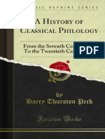 A History of Classical Philology