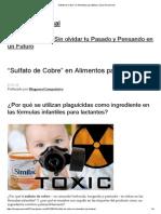 """Sulfato de Cobre"""" en Alimentos Para Bebes _ Zona Paranormal"""