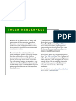 Tough Mindedness