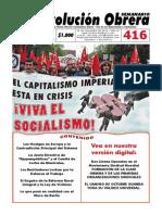 Semanario Revolución Obrera Ed. 416