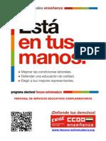 Programa Electoral Personal No Docente FECCOO-Extremadura