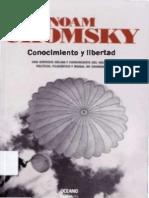 Chomsky . Conocimiento y Libertad