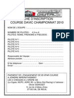 Inscription Course Champion Nat de France 2010