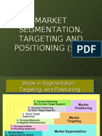 STP - Market Segmentation,Targeting & Positioning