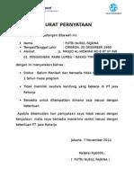 Surat Pernyataan Jr