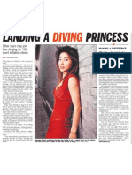 Landing a Diving Princess, 24 Nov 2009, Straits Times