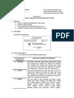 Exercise No 5 - Preparation of Simplified Cephalosporin Skin Testing