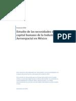 Estudio Necesidades Capitalhumano Industria Aeroespacial Mexico