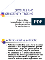 Antimicrobials and Sensitivity Testing