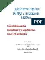 Requisitos Latindex
