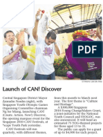 Launch of CAN! Discover, 19 Apri 2009, Sunday Times