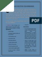 TRADICIONALES RECETAS COLOMBIANAS