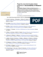 Read the Most-downloaded Articles Published in Accountability in Research Free!