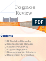BI Decision Hierarchy Cognos Metric Manager Cognos PowerPlay Cognos ReportNet