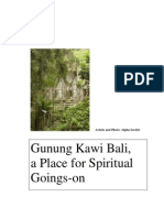 Gunung Kawi Bali Article