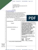 08-03 28 Zernik v Connor (2:08-cv-01550) US District Court, Central District of California, Dkt #019