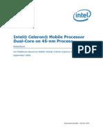 Especificaciones Técnicas Celeron Mobile Dual Core