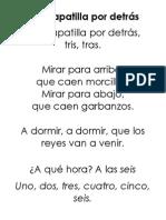 Canción - A La Zapatilla Por Detrás