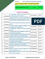 2014-2015 Ieee Dotnet Projects Titles List Globalsoft Technologies