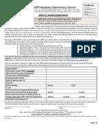 KIPP Academy Elementary-2010-11 Student Lottery Application