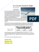 height of a zero gravity parabolic flight answers