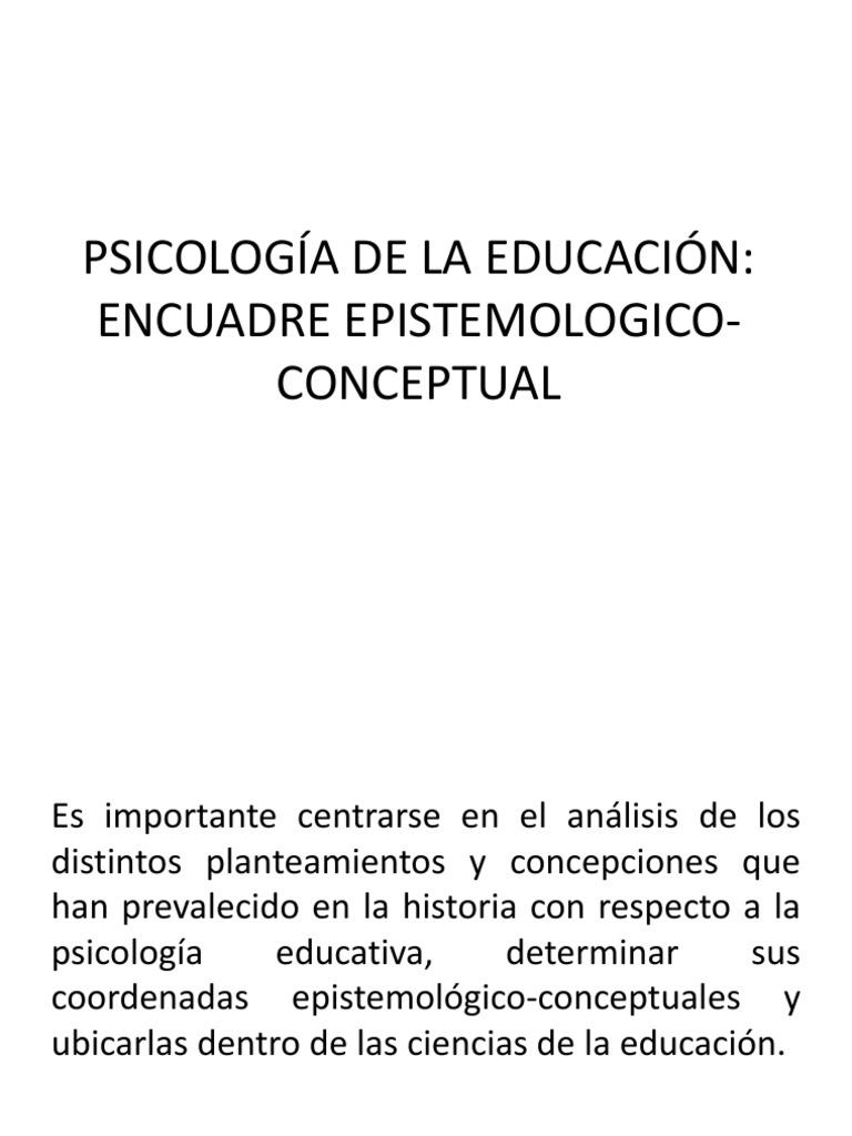 Psicología de La Educación Encuadre Epistemologico