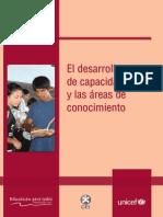 El Desarrollo de Capacidades y Las Areas de Conocimiento