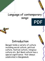 Language in contemporary Bangladeshi song