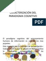 caracterización Del Paradigma Cognitivo