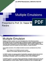 Multiple Emulsions