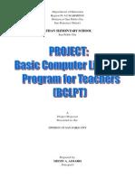 Project Proposal Computer Literacy Program