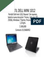 Portatil Dell Mini 1012Portatil Dell Mini 1012Portatil Dell Mini 1012Portatil Dell Mini 1012Portatil Dell Mini 1012