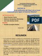Derivadas aplicadas a la Ingeniería Civil