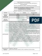 Programa Curricular Tecnólogo Análisis y Desarrollo de SI SENA V101