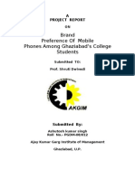 17210522 a Project Report on Brand Preference of Mobile Phones Among Ghaziabad Students Bulbul
