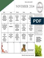 nov  lunch menu 2014