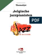 Themalijst Belgische jazzpianisten