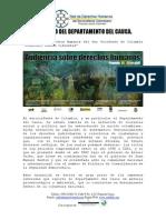 640 Contexto Departamento Del Cauca Primera Audiencia de Derechos Humanos