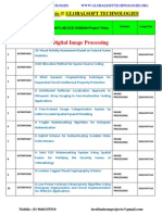 Ieee 2014-2015 Matlab Projects Titles List Globalsoft Technologies